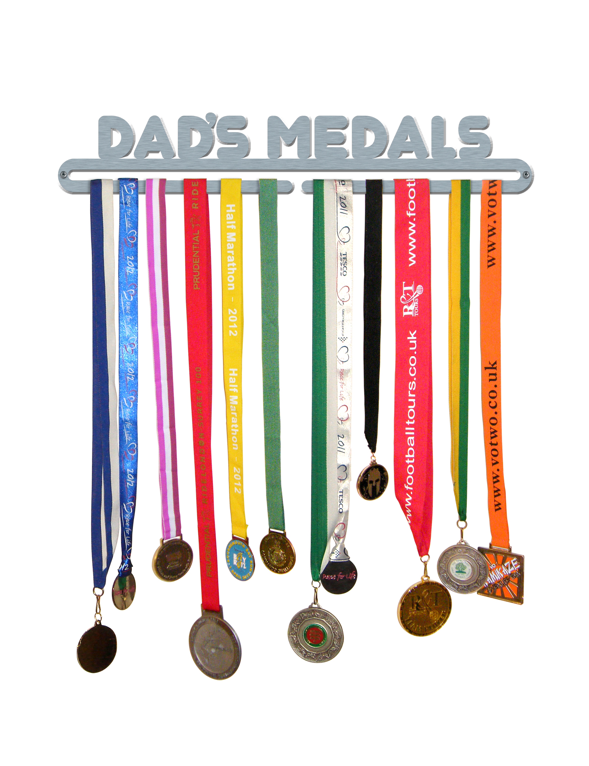 Christmas Running Medals.Dad S Medals