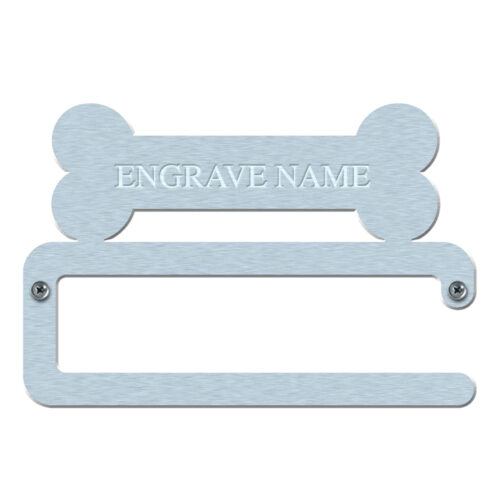 Dog Lead Hanger Bone Engraved Straight Bar
